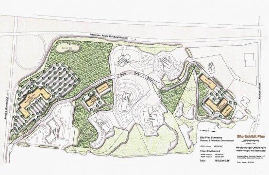 1200 West Park Drive, Westborough, MA - Site Exhibit Plan