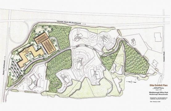 1300 West Park Drive, Westborough, MA - Site Exhibit Plan